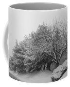 Snowy Trees In Black And White Coffee Mug