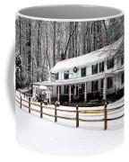 Snowy Valley Green Coffee Mug
