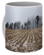 Snowy Winter Cornfields Coffee Mug