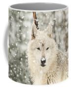 Snowy Wolf Coffee Mug