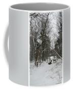 Snowy Wooded Path Coffee Mug
