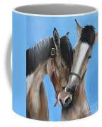 Snuggling Siblings Coffee Mug