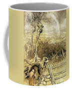 So Nobody Can Quite Explain Exactly Where The Rainbows End Coffee Mug by Arthur Rackham