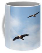 Soaring Bald Eagles Square Coffee Mug
