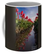 Soaring Crimson Tulips Coffee Mug
