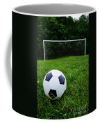 Soccer Ball On Field Coffee Mug