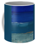 Soft Crashing Waves- Abstract Landscape Coffee Mug by Linda Woods