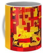 Soft Geometrics Abstract In Red And Yellow Impression I Coffee Mug