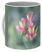 Soft Pink Alstroemeria Flower Coffee Mug