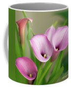 Soft Pink Calla Lilies Coffee Mug