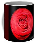 Soft Red Rose Closeup Coffee Mug