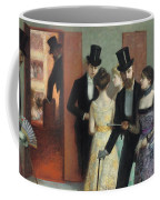 Soiree At The Opera Coffee Mug by Ernest Rouart