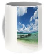 Sok San Pier On Long Beach In Koh Rong Island Cambodia Coffee Mug