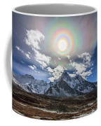 Solar Corona Above The Ama Dablam Coffee Mug