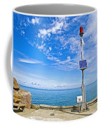 Solar-powered Light In Halls Harbour In Nova Scotia-canada Coffee Mug