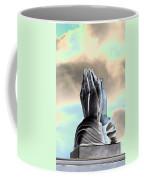 Solar Praying Hands Coffee Mug