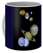 Solar System Montage Coffee Mug by Movie Poster Prints