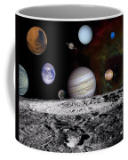 Solar System Montage Of Voyager Images Coffee Mug by Movie Poster Prints