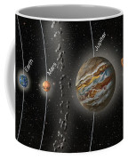 Solar System Orbits, Illustration Coffee Mug