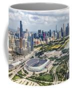Soldier Field And Chicago Skyline Coffee Mug