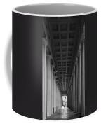 Soldier Field Colonnade Chicago B W B W Coffee Mug