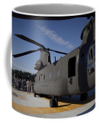 Soldiers Being Briefed Behind A Ch-47 Coffee Mug