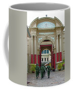 Soldiers In The Outer Court Of Grand Palace Of Thailand In Bangkok Coffee Mug