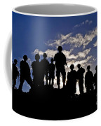 Soldiers Watch Troop Movements At Fort Coffee Mug