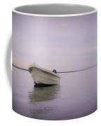 Solitary Boat Coffee Mug by Adam Romanowicz