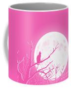 Solitary Pink Background Coffee Mug