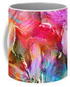 Somebody's Smiling - Abstract Art Coffee Mug by Jaison Cianelli