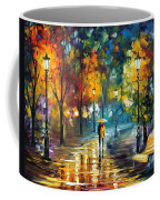Soul Of The Rain - Palette Knife Oil Painting On Canvas By Leonid Afremov Coffee Mug