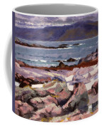 Sound Of Iona  The Burg From The North Shore Coffee Mug
