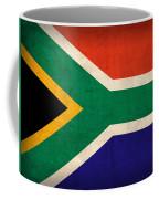 South Africa Flag Vintage Distressed Finish Coffee Mug