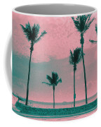 South Beach Miami Tropical Art Deco Five Palms Coffee Mug