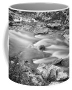 South Boulder Creek Little Waterfalls Rollinsville Bw Coffee Mug