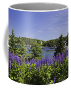 South Bristol And Lupine Flowers On The Coast Of Maine Coffee Mug