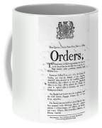 South Carolina, 1780 Coffee Mug