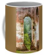 South Carolina Historic Church Photo Sheldon Ruins-- Another View From The Inside Coffee Mug