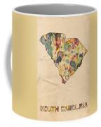 South Carolina Map Vintage Watercolor Coffee Mug