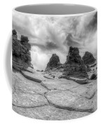 South Coyote Buttes Monochrome 1 Coffee Mug