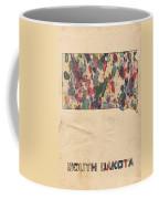 South Dakota Map Vintage Watercolor Coffee Mug