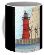 South Haven Lighthouse Mi Nautical Chart Map Art Cathy Peek Coffee Mug