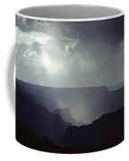 South Rim Grand Canyon Storm Clouds And Light On Rock Formations Coffee Mug