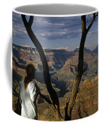 South Rim Grand Canyon Sunset Light On Rock Formations With Woma Coffee Mug