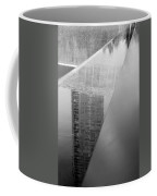 South Tower Reflections In Black And White Coffee Mug