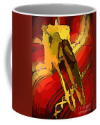 South Western Style Art With A Canadian Moose Skull  Coffee Mug