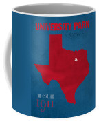Southern Methodist University Mustangs Dallas Texas College Town State Map Poster Series No 098 Coffee Mug