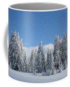 Southern Oregon Forest In Winter Coffee Mug