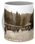 Southern Pacific Depot At Brookdale Santa Cruz Co. Cal. Circa 1910 Coffee Mug